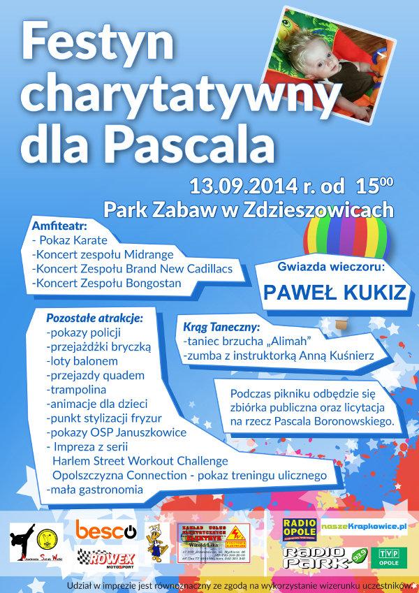 Plakat - festyn charytatywny dla Pascala
